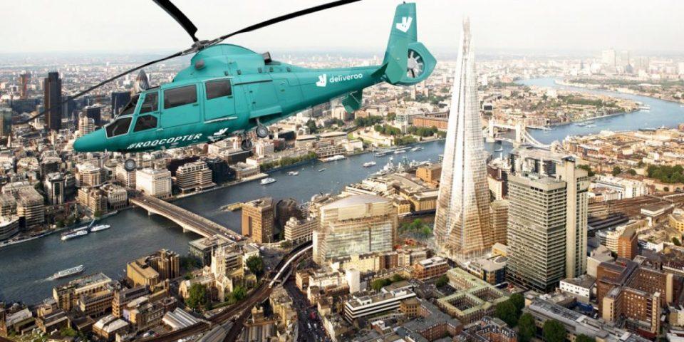 Ручек во воздух на 300 метри над земја: Во Лондон се отвора ресторан во хеликоптер