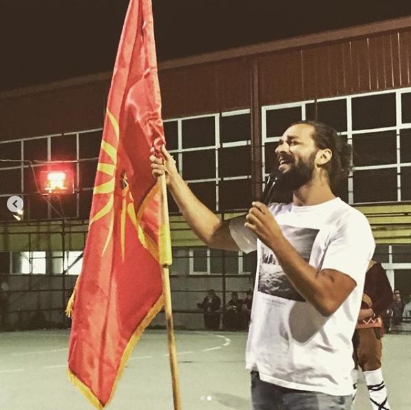 ФОТО: Некст Тајм го истакнаа знамето од Кутлеш на својот настап во Охрид