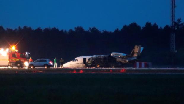 (ВИДЕО) Се сруши приватниот авион на Пинк
