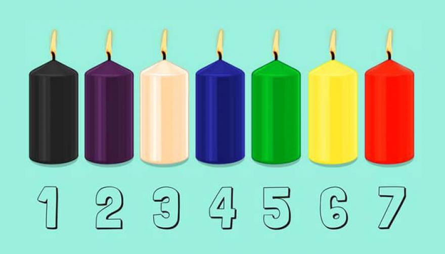 Одберете една свеќа и откријте ја вашата моментална состојба на ум