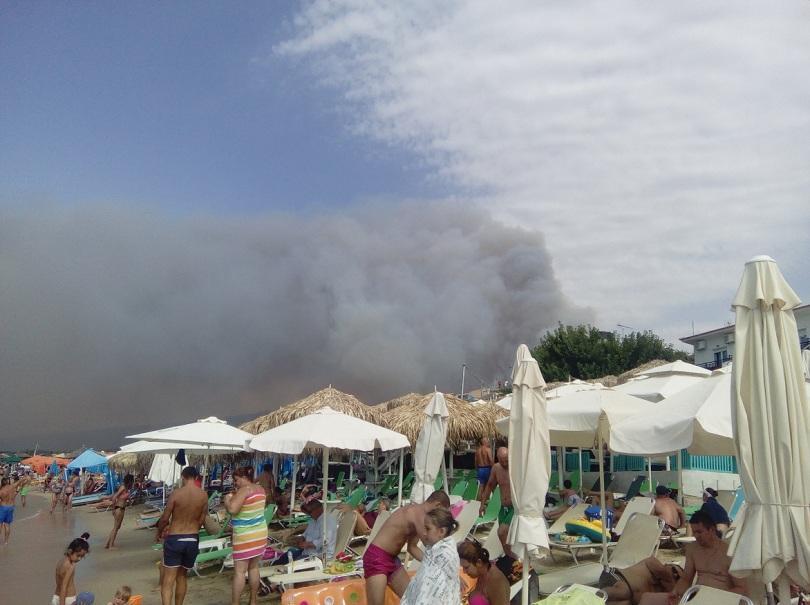 Пожар на грчкиот остров Тасос