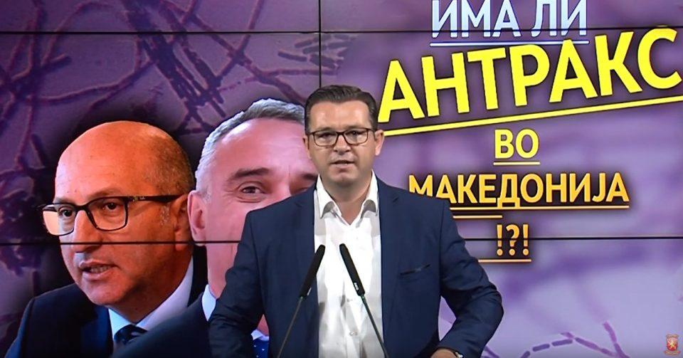 Трипуновски: Власта мора да одговори дали во Македонија веќе две недели се крие дека ја има болеста антракс?