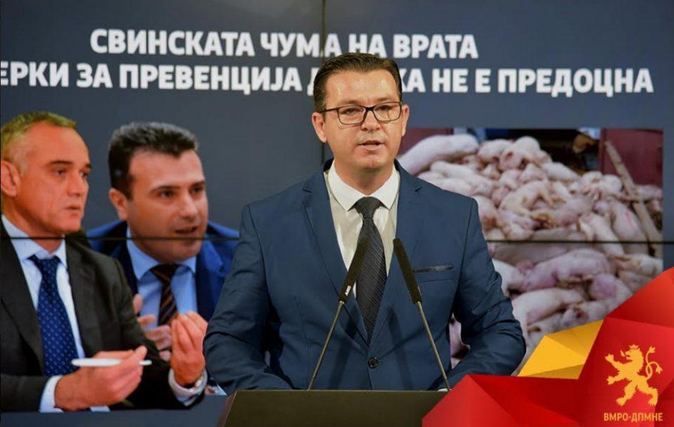 Трипуновски: ВМРО-ДПМНЕ предлага сет мерки за справување со Африканската свинска чума