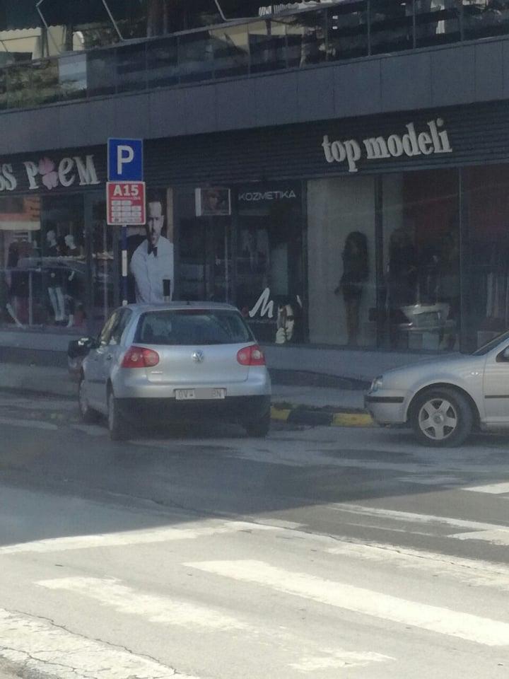 Пратеникот од СДСМ кој физички нападна граѓанин, продолжува со дивеењето низ Гостивар- автомобилот незаконски го паркира каде ќе стигне
