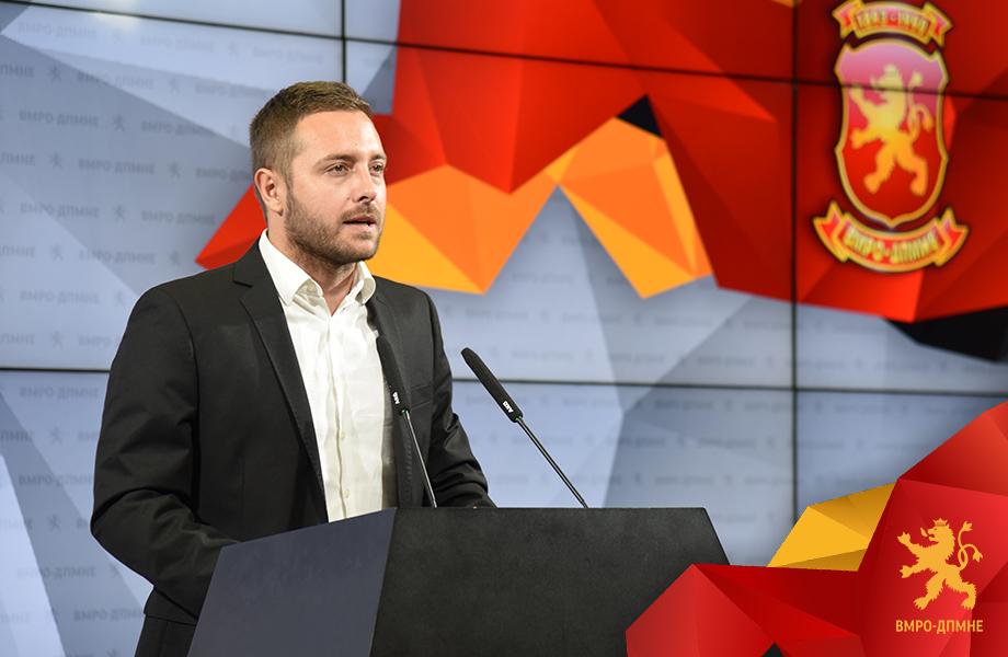 Арсовски: Заеви и СДСМ преку Фондот за криминални иновации испумпаа над 10.5 милиони евра пари на граѓаните