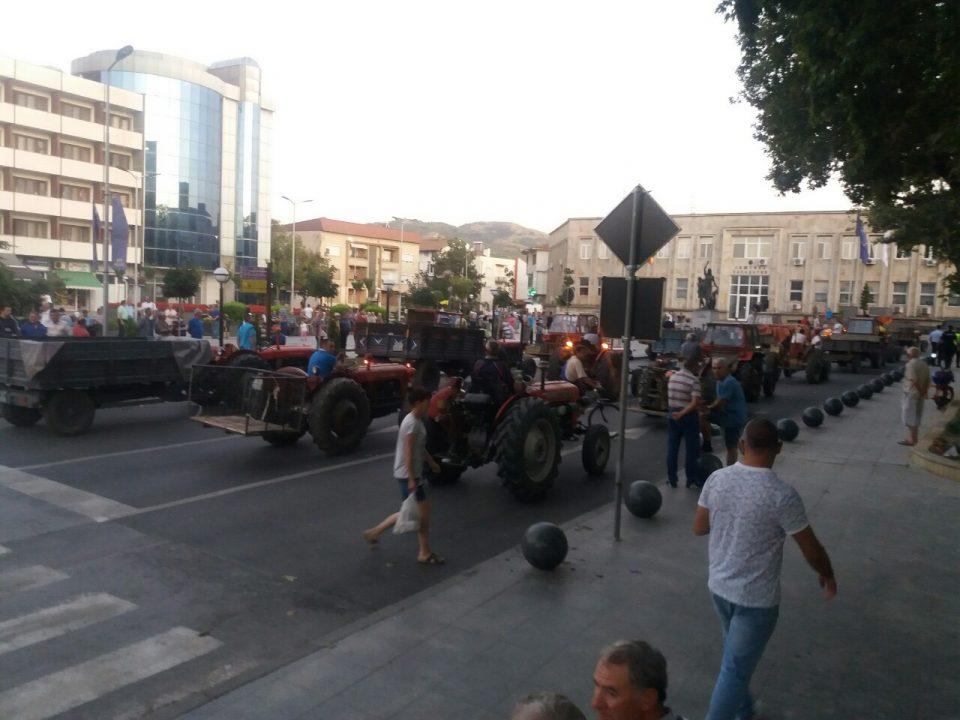 Протест на лозарите во Кавадарци (ФОТО)