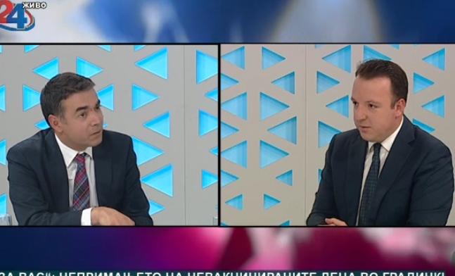 Николоски до Димитров: Која беше целта на промената на името ако и после речиси две години немаме датум за преговори со ЕУ?