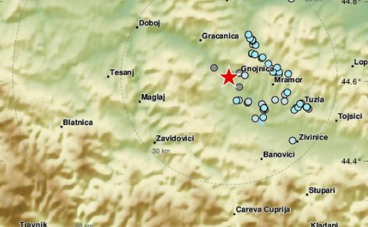 Силен земјотрес и во Босна, тресењето ги вознемирило граѓаните