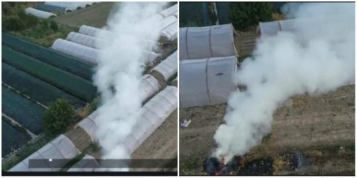 """Дрон """"улови"""" потпалувач на стрниште во Сарај"""