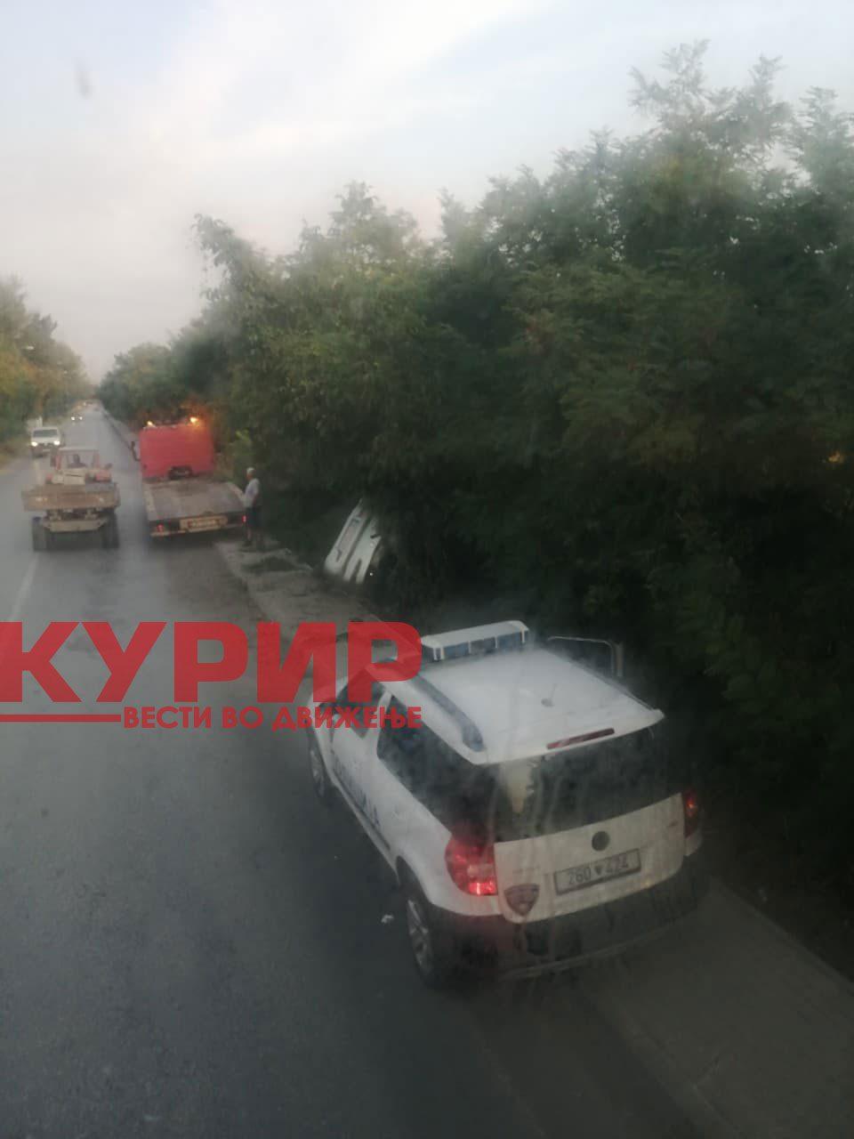 Детали за сообраќајката во Маџари, повредено едно лице