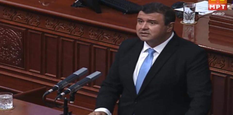 Мицевски побара разрешување на Спасовски: За време на говорот во Собранието техничкиот премиер кажа Република Македонија