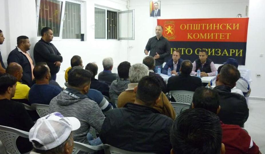 """Мисајловски оствари средба со граѓаните на Шуто Оризари: """"Заедно да тргнеме кон нашата заедничка цел, а тоа е победа за Македонија"""""""