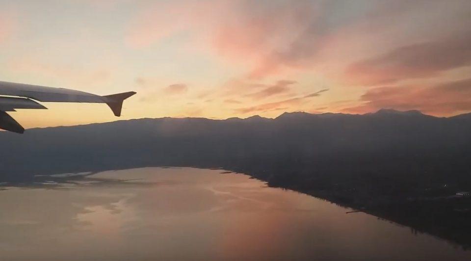 Патник го снимил полетувањето за време на зајдисонце во Охрид- од оваа глетка на езерото ќе останете воодушевени (ВИДЕО)