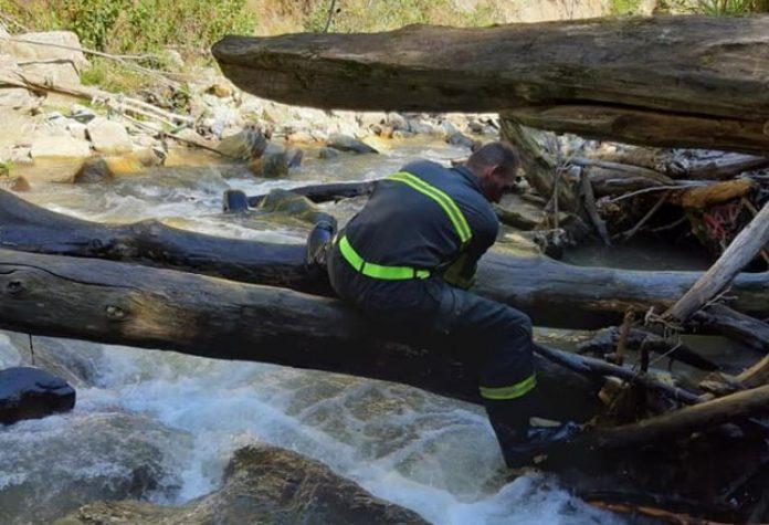 Тетовските пожарникари остранија стебла заглавени на браните на реката Пена
