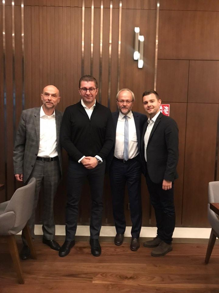 Мицкоски оствари средба со Волкмар Клајн и Јоханес Рај