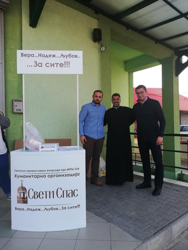 """Мицкоски се приклучи на хуманитарната акција """"Нахрани 10.000"""" и донираше храна (ФОТО)"""