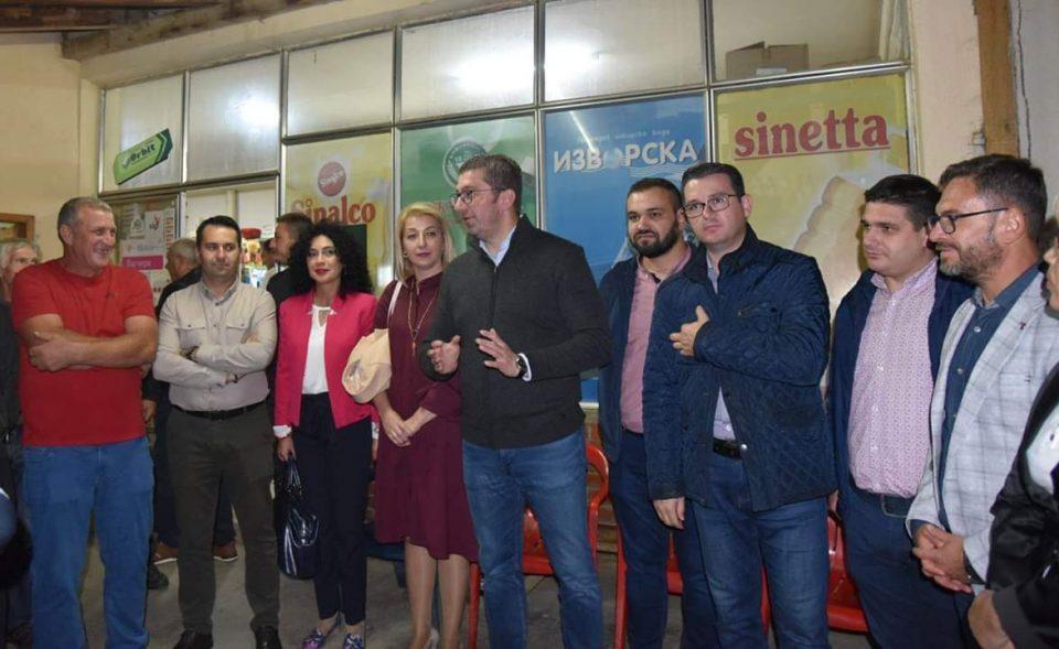 Мицкоски во Струмица: Изборот e помеѓу обновата за која се бориме и неправдите кои ги донесе власта