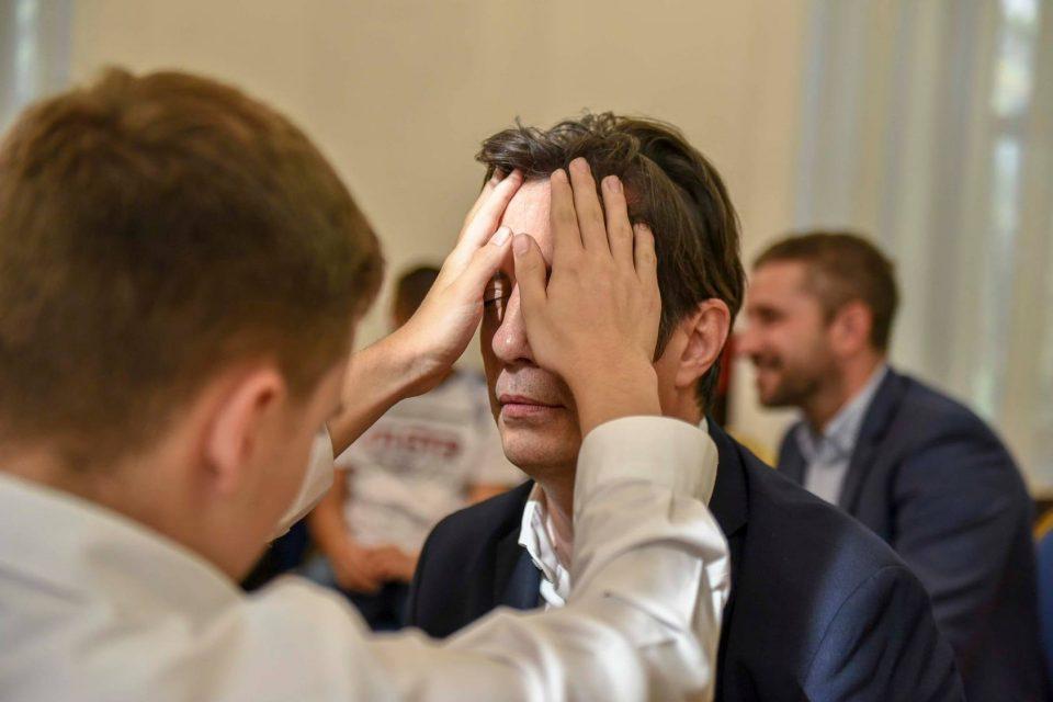 """ФОТО: Учениците од ,,Димитар Влахов"""" со допир го запознаа претседателот Пендаровски"""