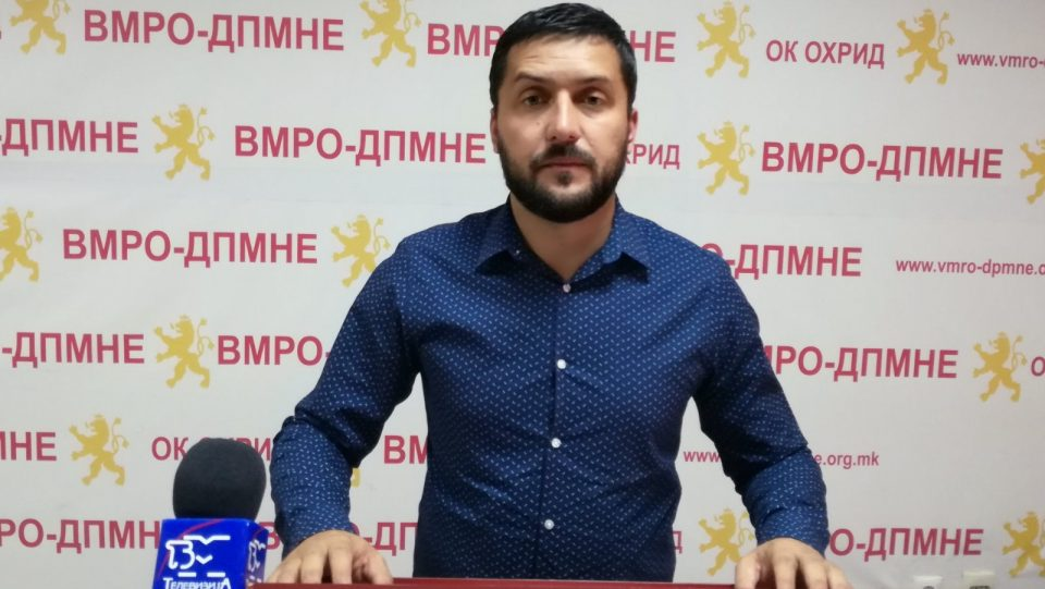 ВМРО-ДПМНЕ ОК Охрид: Константин Георгиески е синоним за криминал и корупција во Охрид, а за функционерите на СДСМ не важи законот