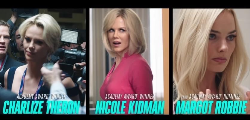"Никол Кидман, Марго Роби и Шарлиз Терон во филмот ""Bombshell"" (ВИДЕО)"