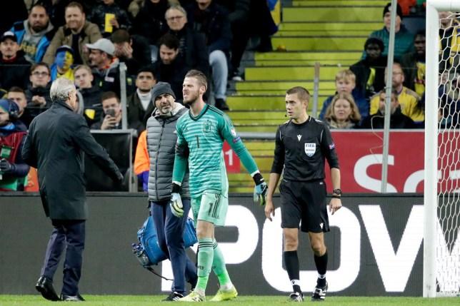 Де Хеа се повреди, неизвесен за дуелот со Ливерпул