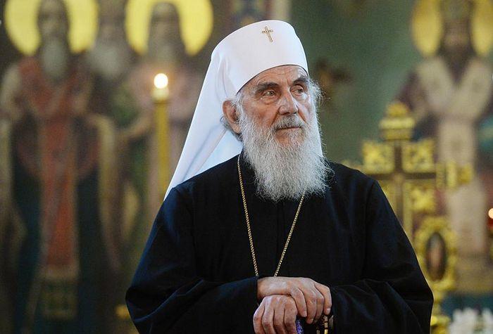 Делегација на Цариградската патријаршија на средба со српскиот патријарх Иринеј