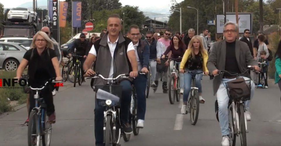 Блокирани улици во Карпош: На велосипедистите им дојде прекy глaвa