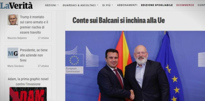Ла Верита: Конте сака да му даде шанса на Заев да остане на власт