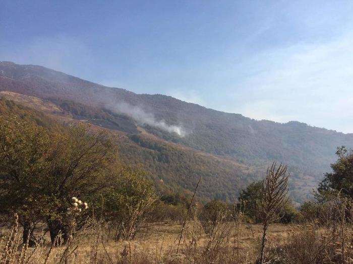 Сѐ уште активен пожарот над кичевското село Ќафа