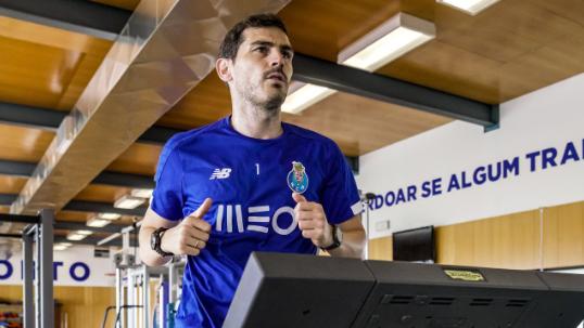 Касиљас тренира во фитнес сала