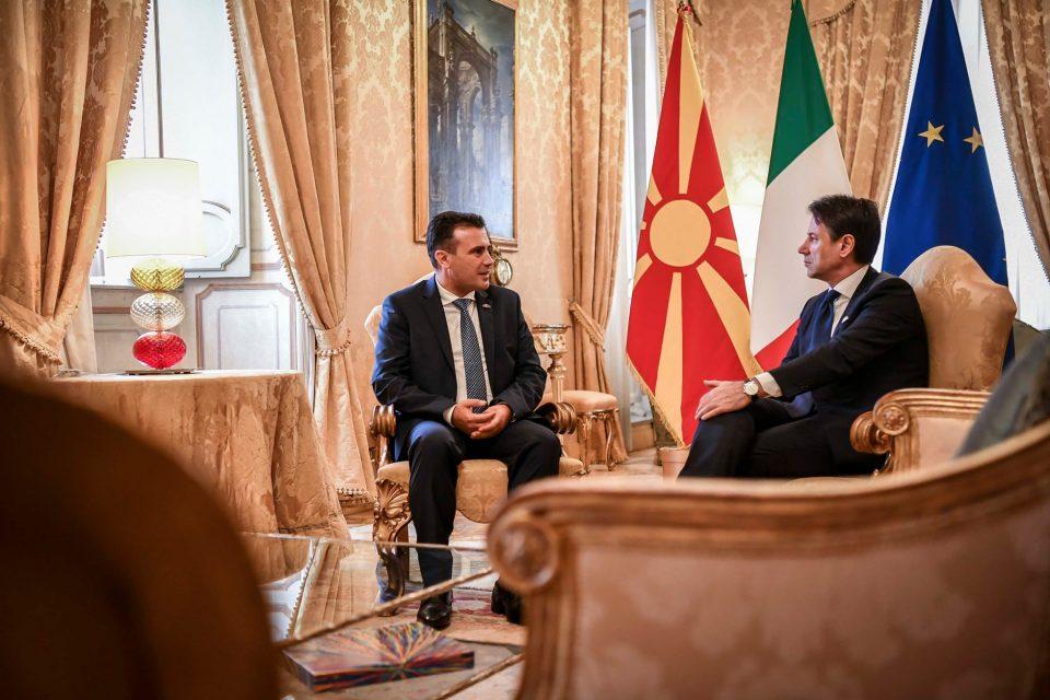 Заев: Ги негуваме и развиваме пријателските односи со Италија