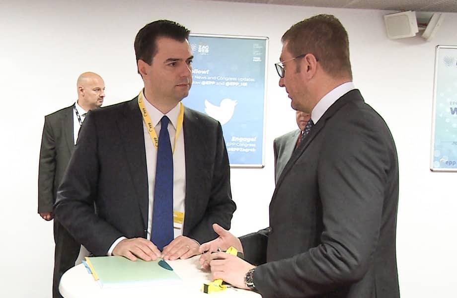 Мицкоски оствари средба со лидерот на албанската опозиција, Баша