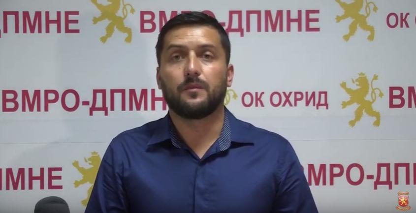 Божиновски: Со СДСМ нема нови проекти и инвестиции- на Охрид и Македонија им е потребна обнова за крај на измамите, криминалот, корупцијата и лагите