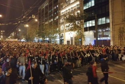 Грчките студенти денес на протест во Атина