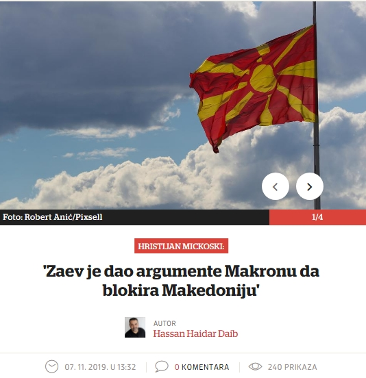 """""""Вечерни лист"""": Заев му ги даде аргументите на Макрон за да ја блокира Македонија"""
