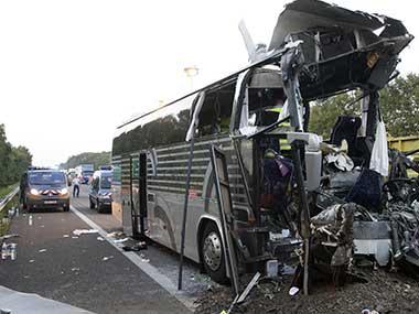 Автобуска несреќа во Франција, повредени 29 патници