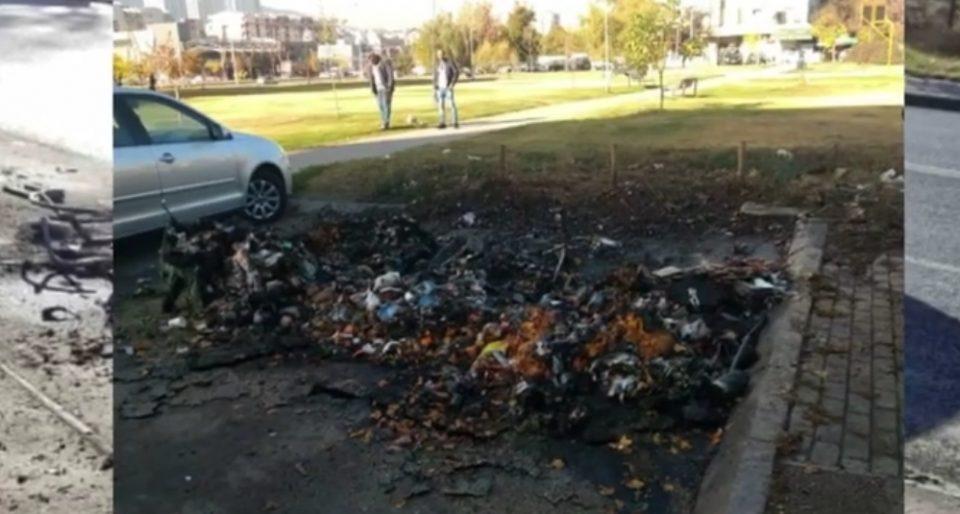 Хулигани продолжуваат да палат контејнери во Скопје: Ќе се удавиме во сопственото ѓубре поради несовесност на сограѓаните (ВИДЕО)