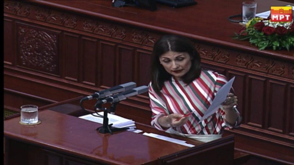 Манаскова: Откако СДСМ е на власт немаме раст на средствата кои што се наменети за инвестициски вложувања