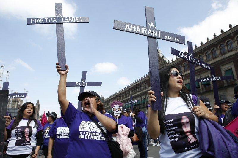 Марш за убиените или исчезнатите девојчиња и жени во Мексико