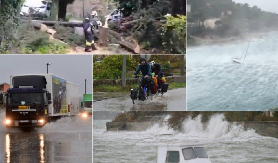 Ужас во Хрватска: Огромно невреме направи хаос
