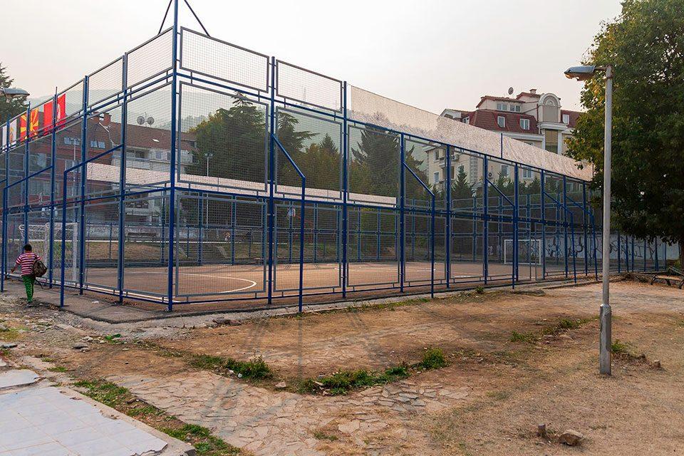 """Комплетно реновирано спортското игралиште на ОУ """"Кочо Рацин"""" – Донација на Sport Life"""