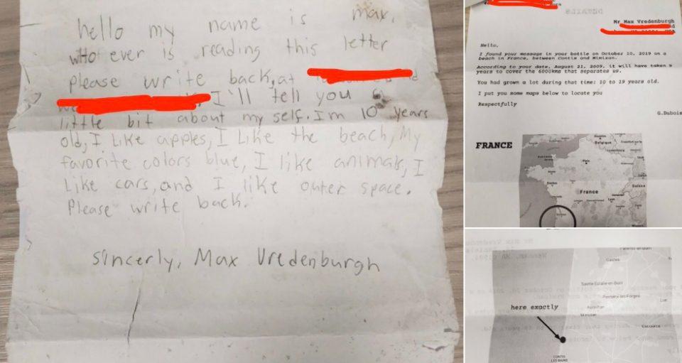 Дете пушти порака во шише, по девет години пристигна и одговорот (ФОТО)