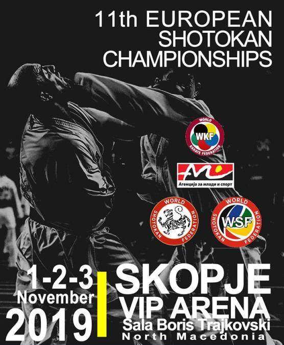 Започна европското карате шотокан првенство во Скопје, 1500 каратисти се борат за медали