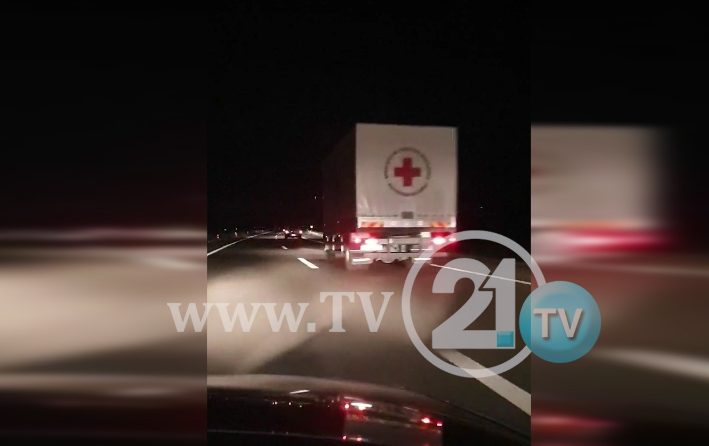 ВИДЕО: Колона долга километри – помошта од Македонија тргна за Албанија