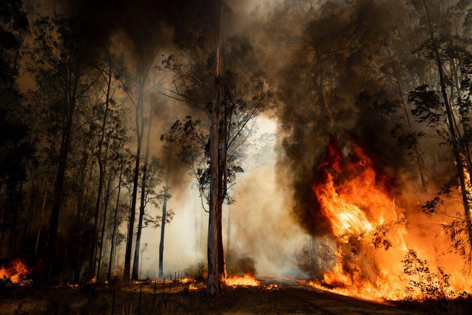 Поради пожарите високо ниво на загадување на воздухот во Австралија