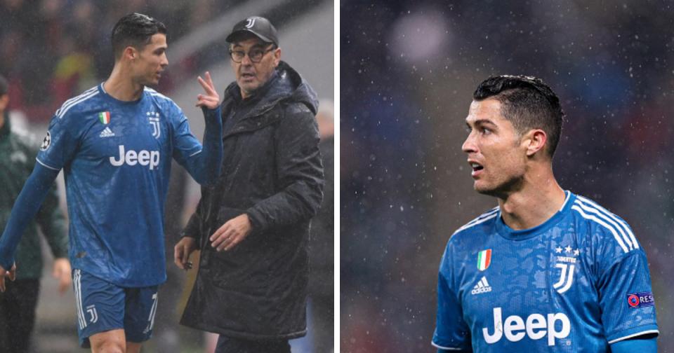 Сари за реакцијата на Роналдо: Нормално е играчот да се изнервира кога ќе биде заменет