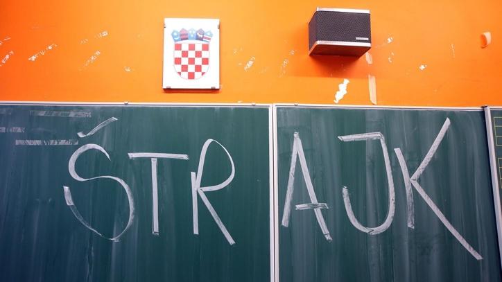 Продолжува штрајкот во училиштата во Хрватска
