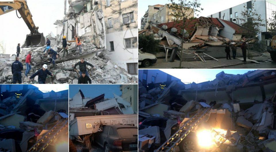Панична потрага по преживеани: Најмалку 14 загинати во земјотресот во Албанија, повредени повеќе од 600 лица
