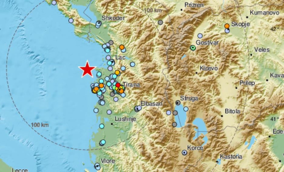 Четири земјотреси за половина час, два со јачина од 4,5 и разлика од само 2 минути!