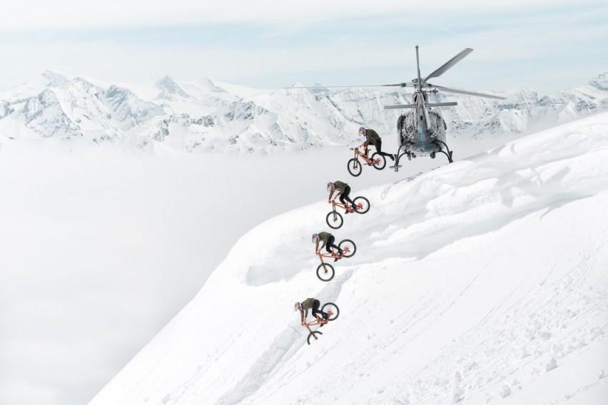 ВИДЕО: Возење велосипед по снег